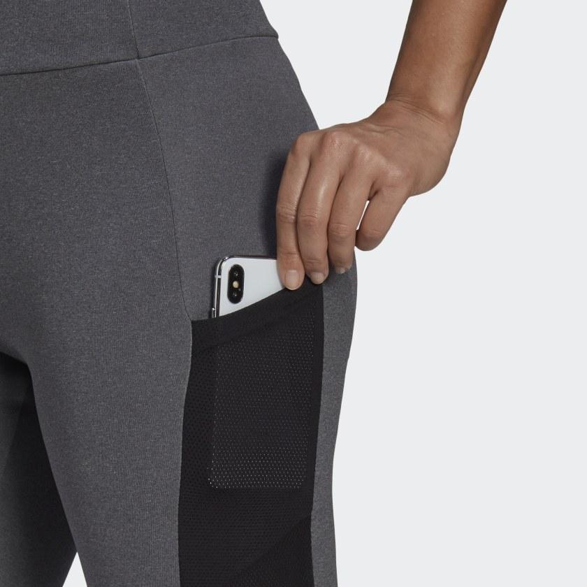 Calça Legging Adidas Essentials Big Logo Cinza e Preto