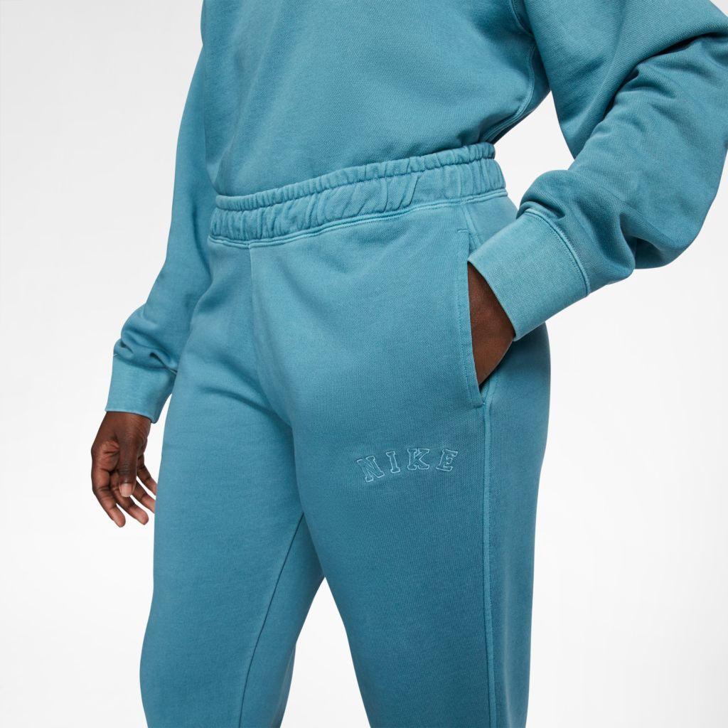 Calça Moletom Nike French Terry Trous Feminino Azul