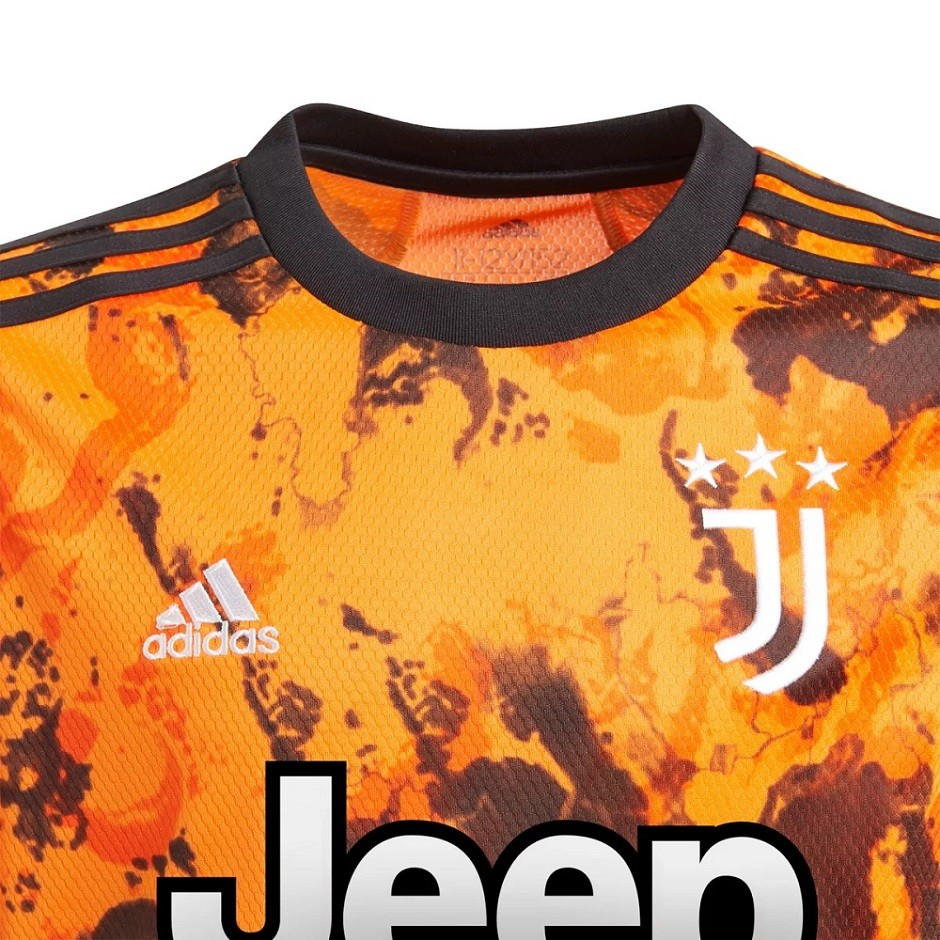 Camisa Juventus Juvenil Third 20/21 s/n° Torcedor Adidas - Laranja e Preto