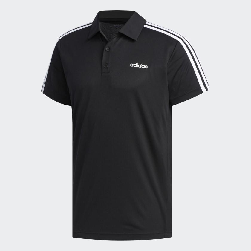 Camisa Polo Adidas Design 2 Move Ar 3 Masculina Preto e Branco