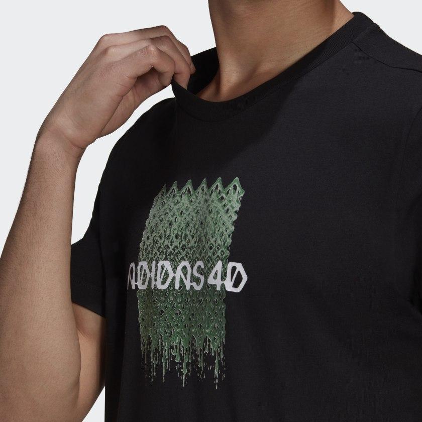 Camiseta Adidas 4D Estampada Masculina Preto