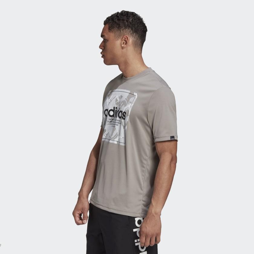 Camiseta Adidas Camouflage Box Masculina Cinza