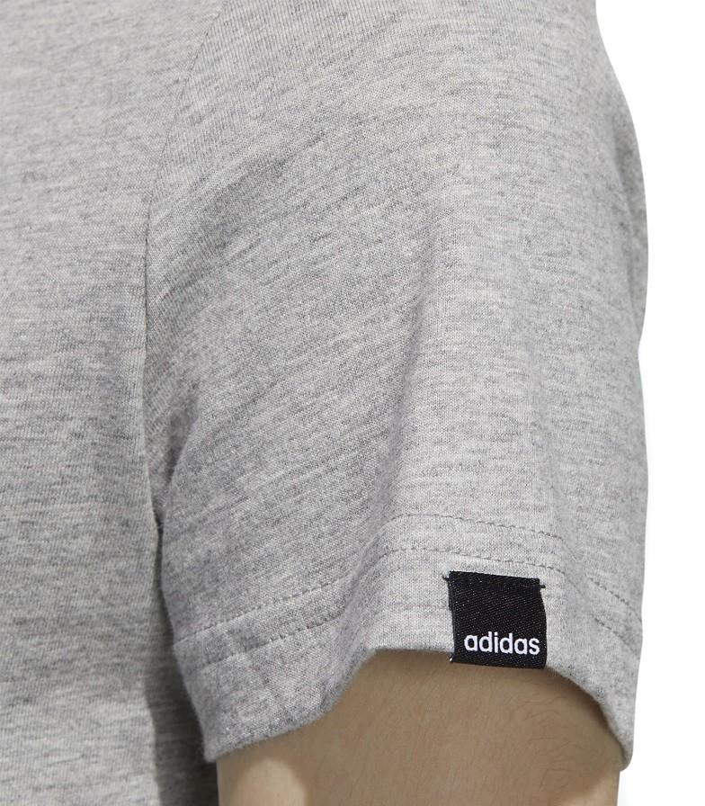 Camiseta Adidas Clock Circular Feminina Cinza e Preto