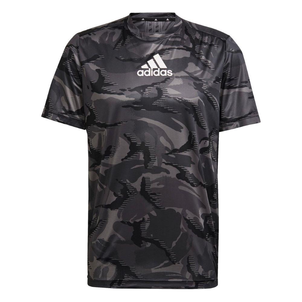 Camiseta Adidas Design To Move Aeroready Masculina Preto Camuflado