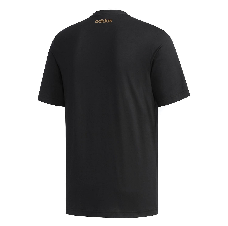 Camiseta Adidas ESS BR Masculina Preto e Dourado