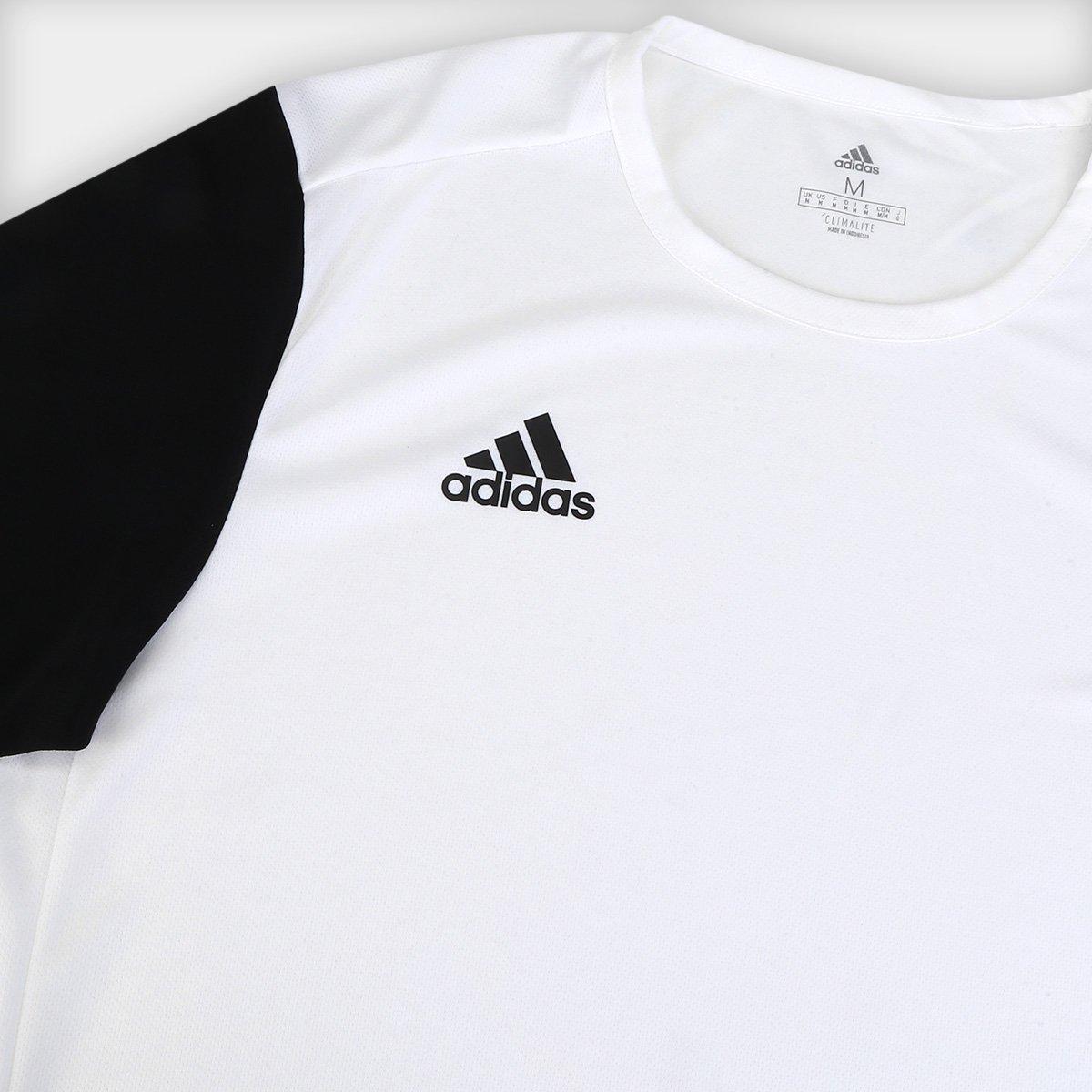Camiseta Adidas Estro 19 Masculina Branco e Preto
