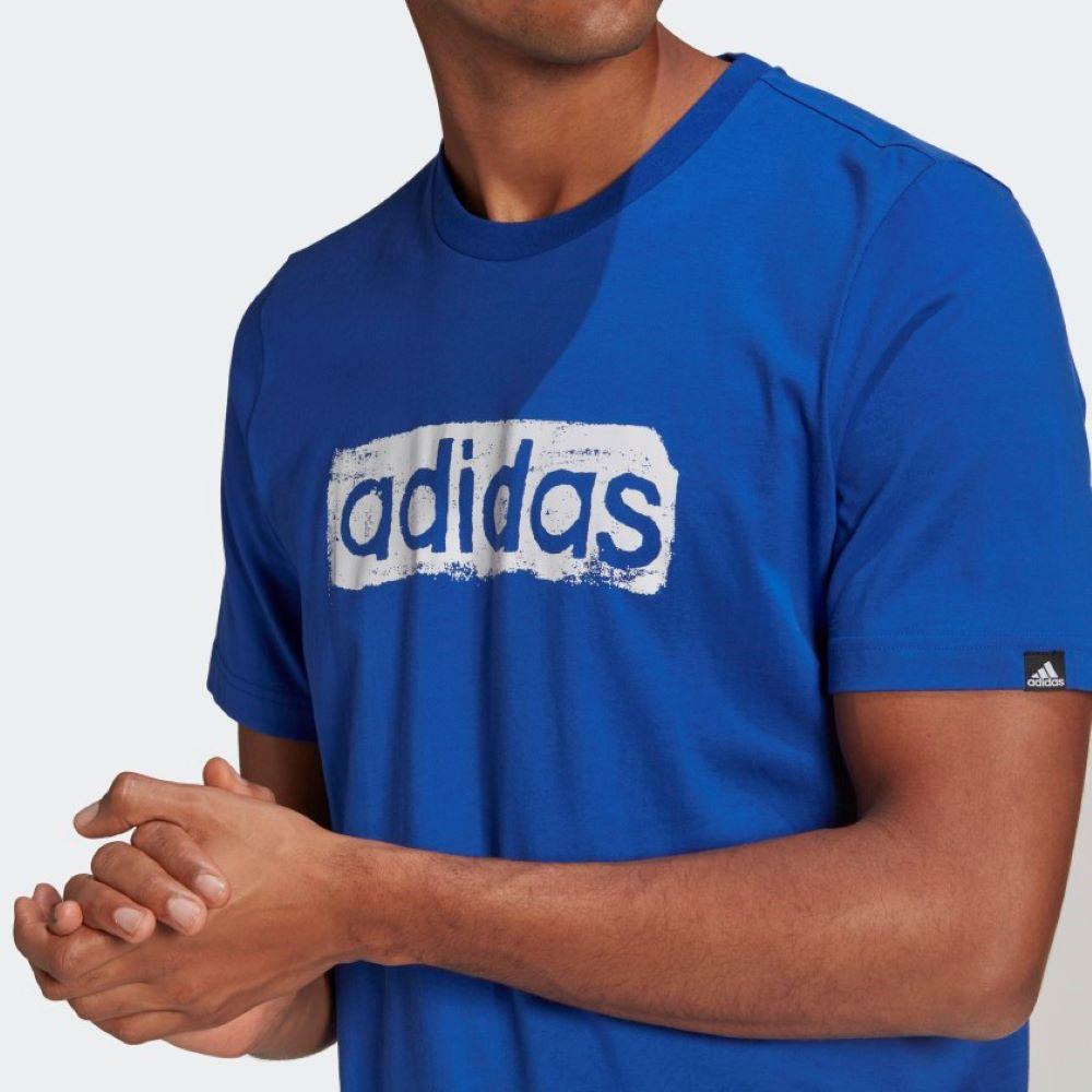 Camiseta Adidas Linear Masculina Azul