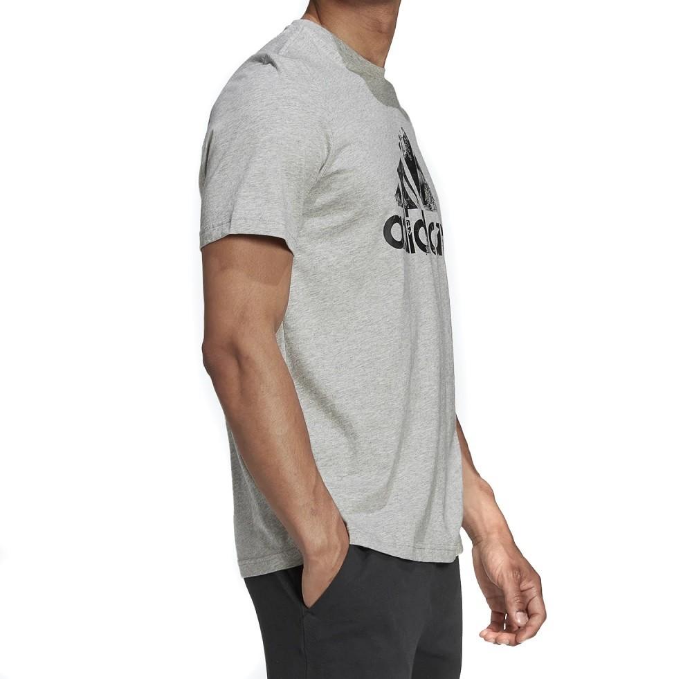 Camiseta Adidas Photo Logo Masculina Cinza e Preto