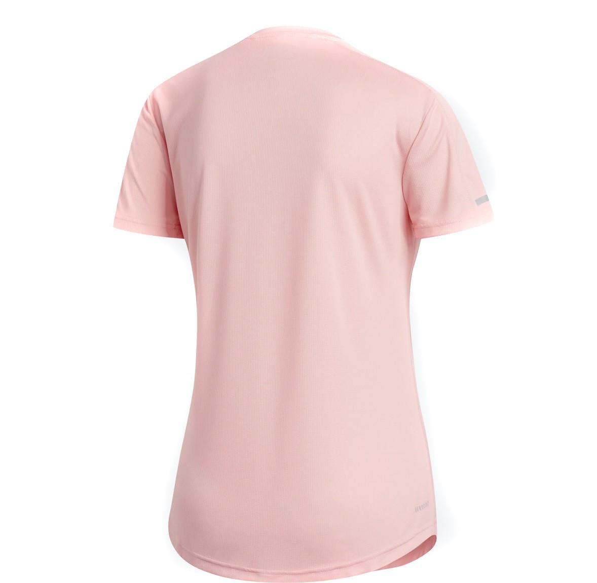 Camiseta Adidas Run It Feminina Rosa