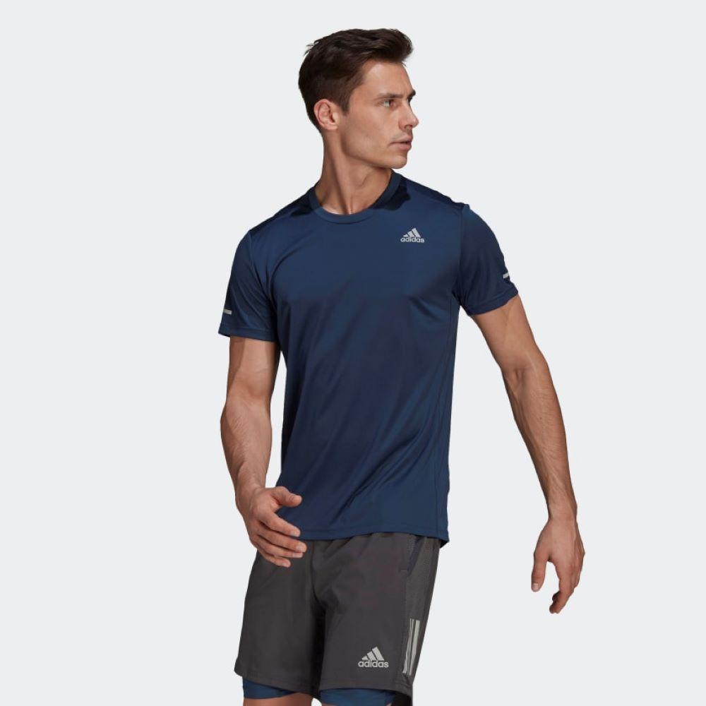 Camiseta Adidas Run It Masculino Azul