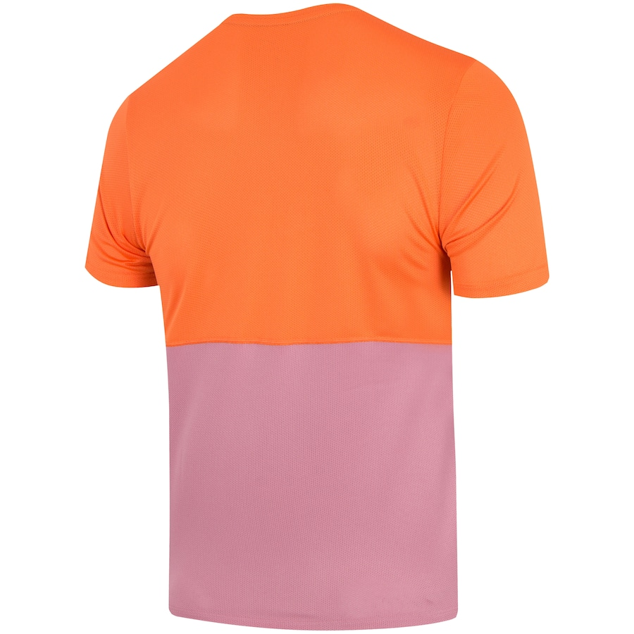 Camiseta Nike Breathe Masculina Laranja e Roxo