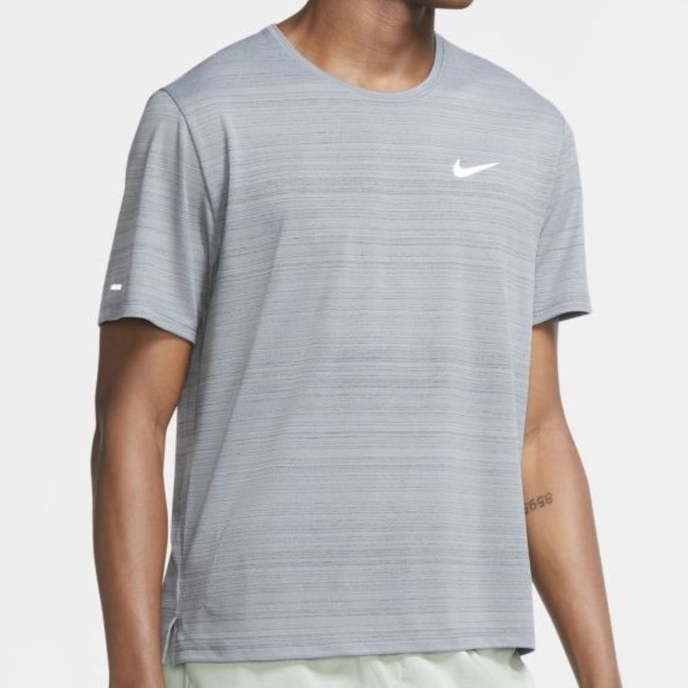 Camiseta Nike Dri-Fit Miler Masculino Cinza
