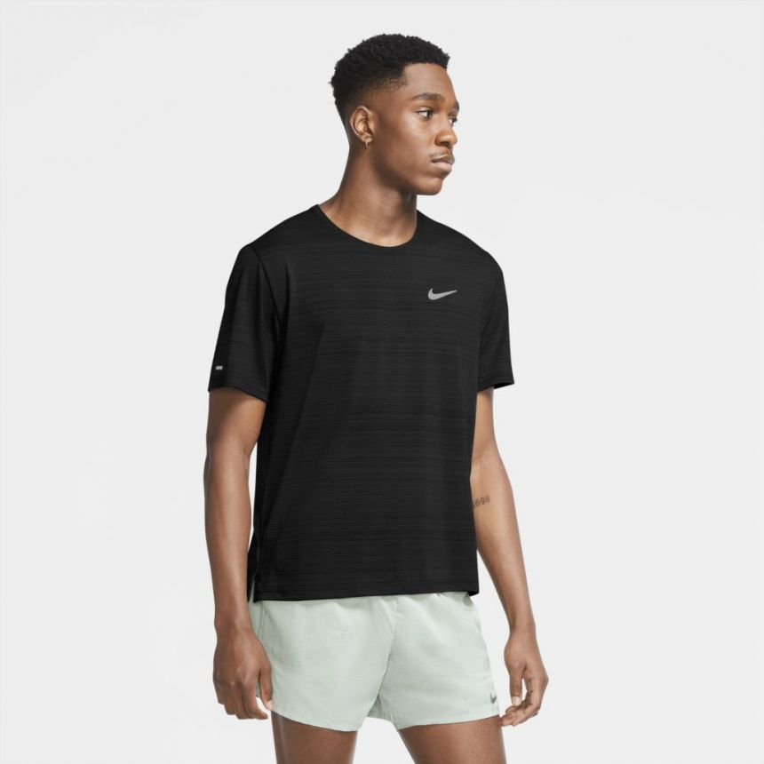 Camiseta Nike Dri-Fit Miler Masculino Preto