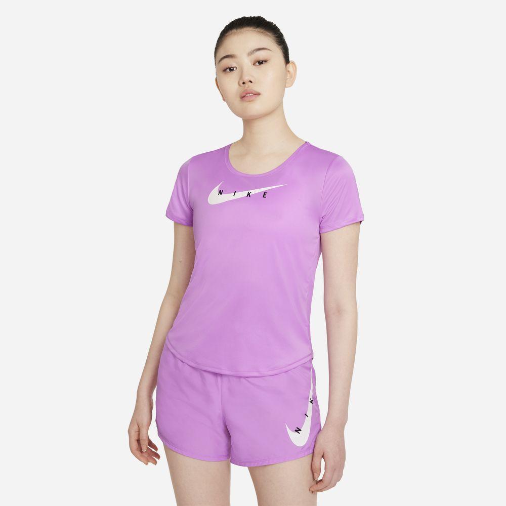 Camiseta Nike Swoosh Run Feminino Rosa