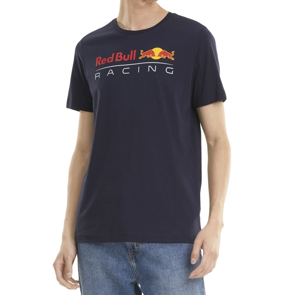 Camiseta Puma Red Bull Racing Logo Masculina Azul Marinho