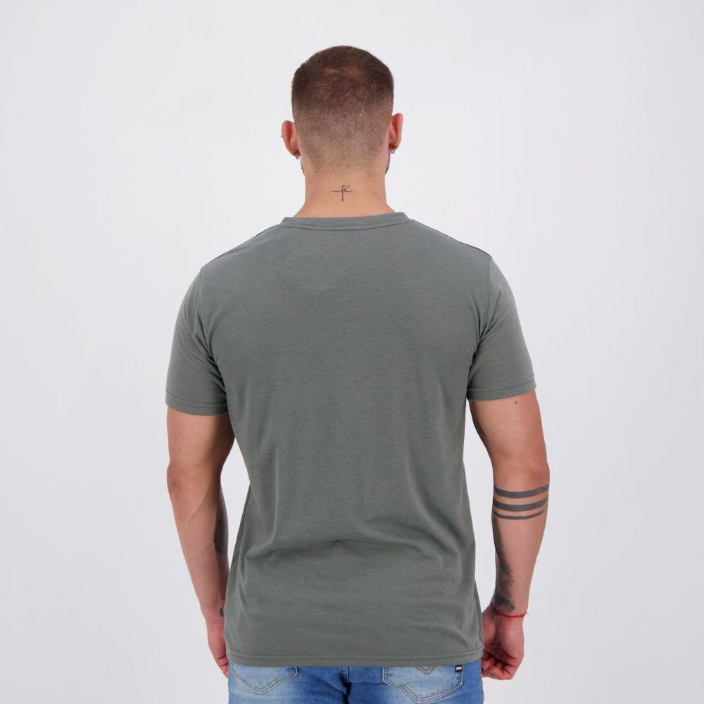 Camiseta Puma Run Graphic Masculina Cinza e Laranja