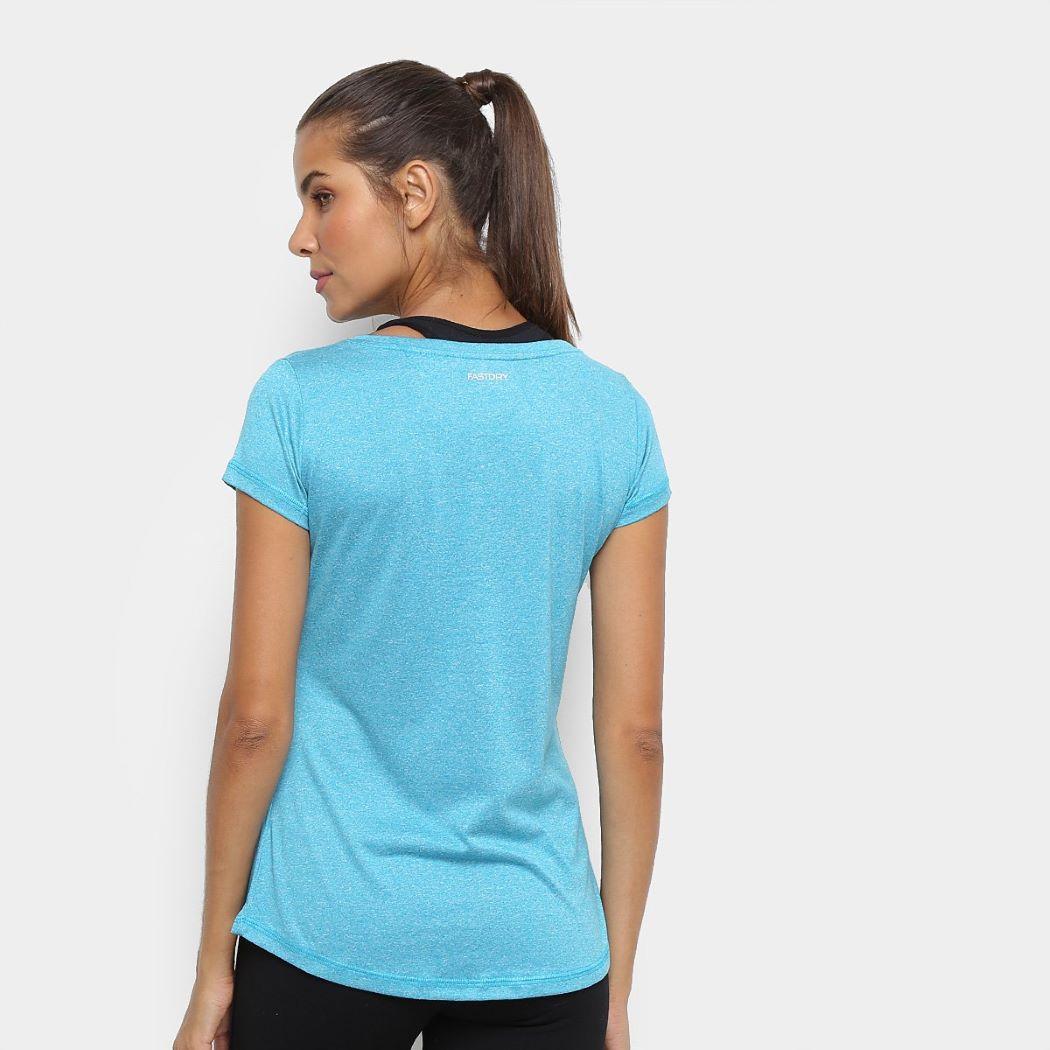 Camiseta Speedo Blend Feminina Mescla Azul