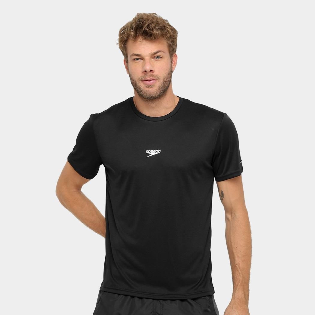 Camiseta Speedo Interlock Masculina Preto