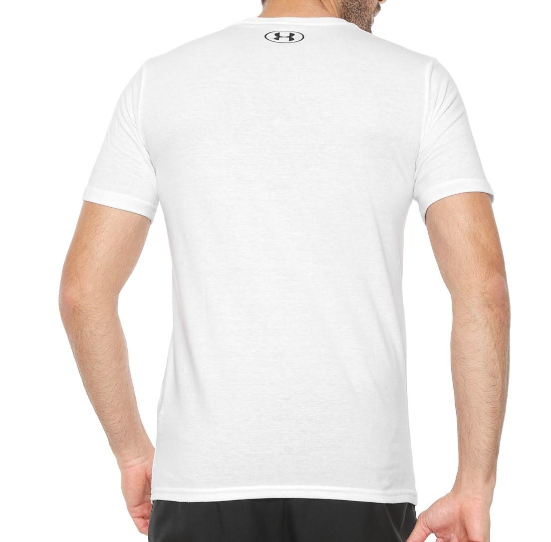 Camiseta Under Armour Sportstyle Masculina Branco e Preto