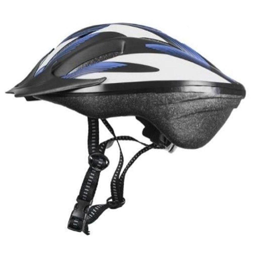 Capacete Bike Out Mold Windstorm C/ Luz Branco e Azul