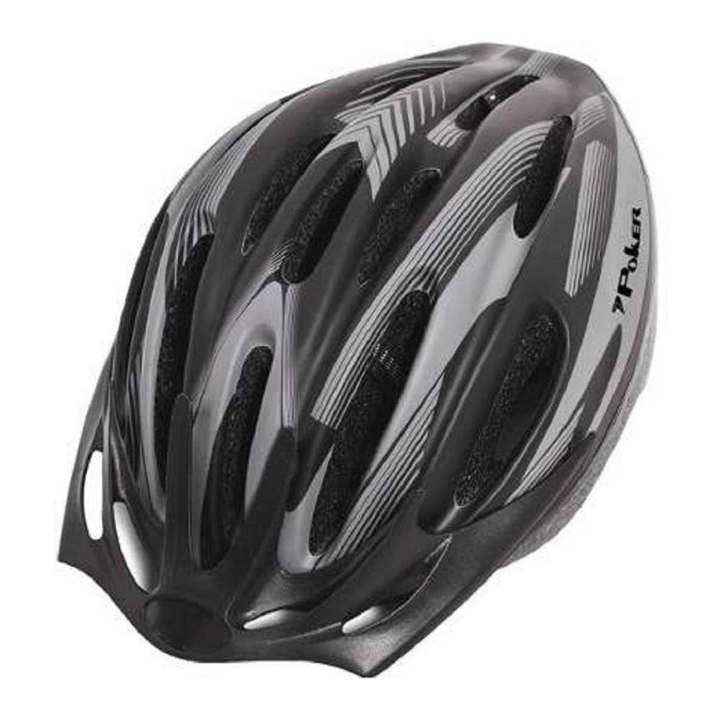 Capacete Bike Out Mold Windstorm C/ Luz Preto e Cinza