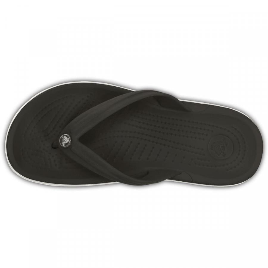Chinelo Crocs Crocband Flip Masculino Preto e Branco