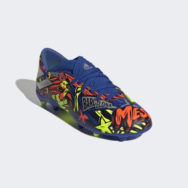Chuteira Adidas Campo Nemeziz Messi Infantil19.3 Azul