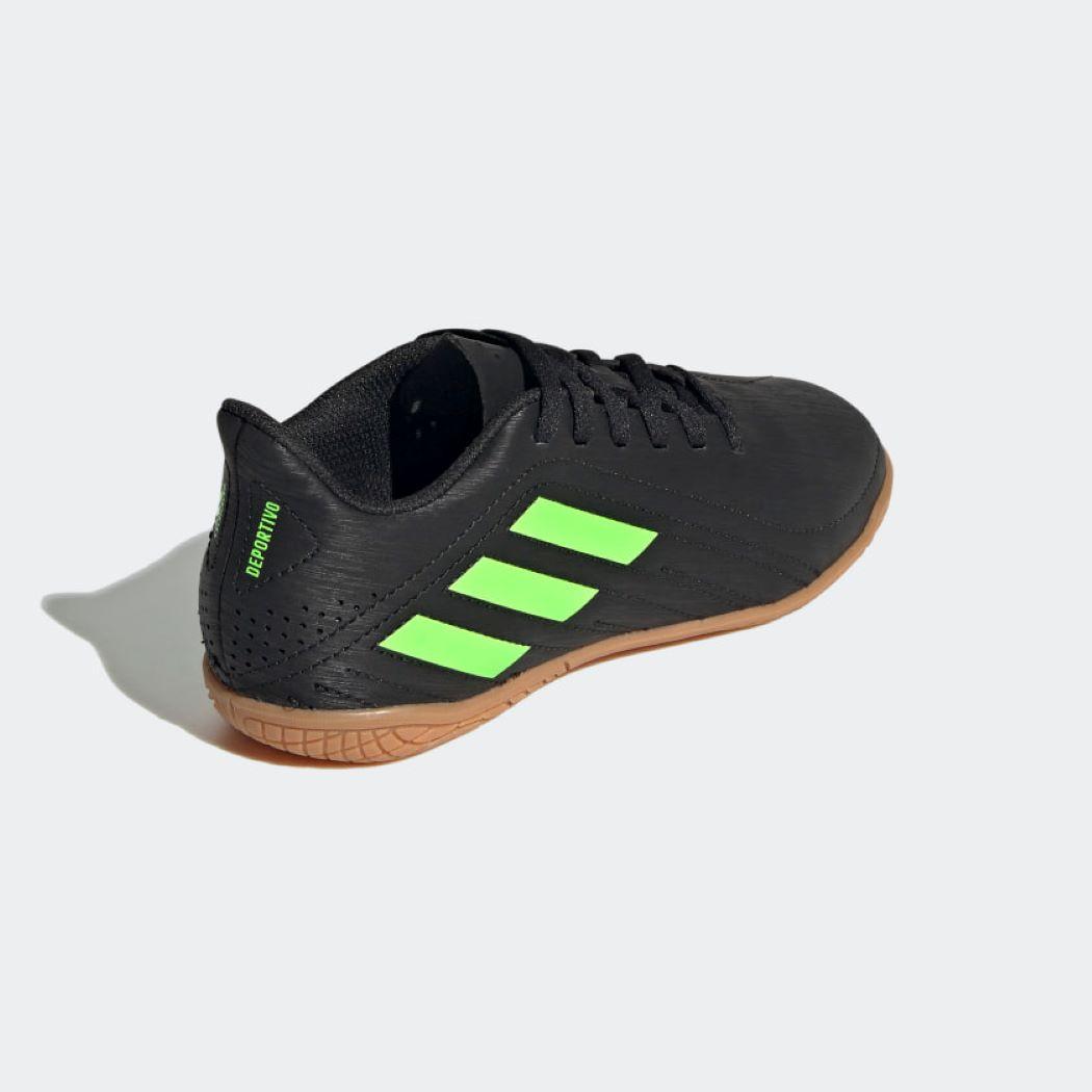 Chuteira Futsal Adidas Deportivo Infantil Preto e Verde