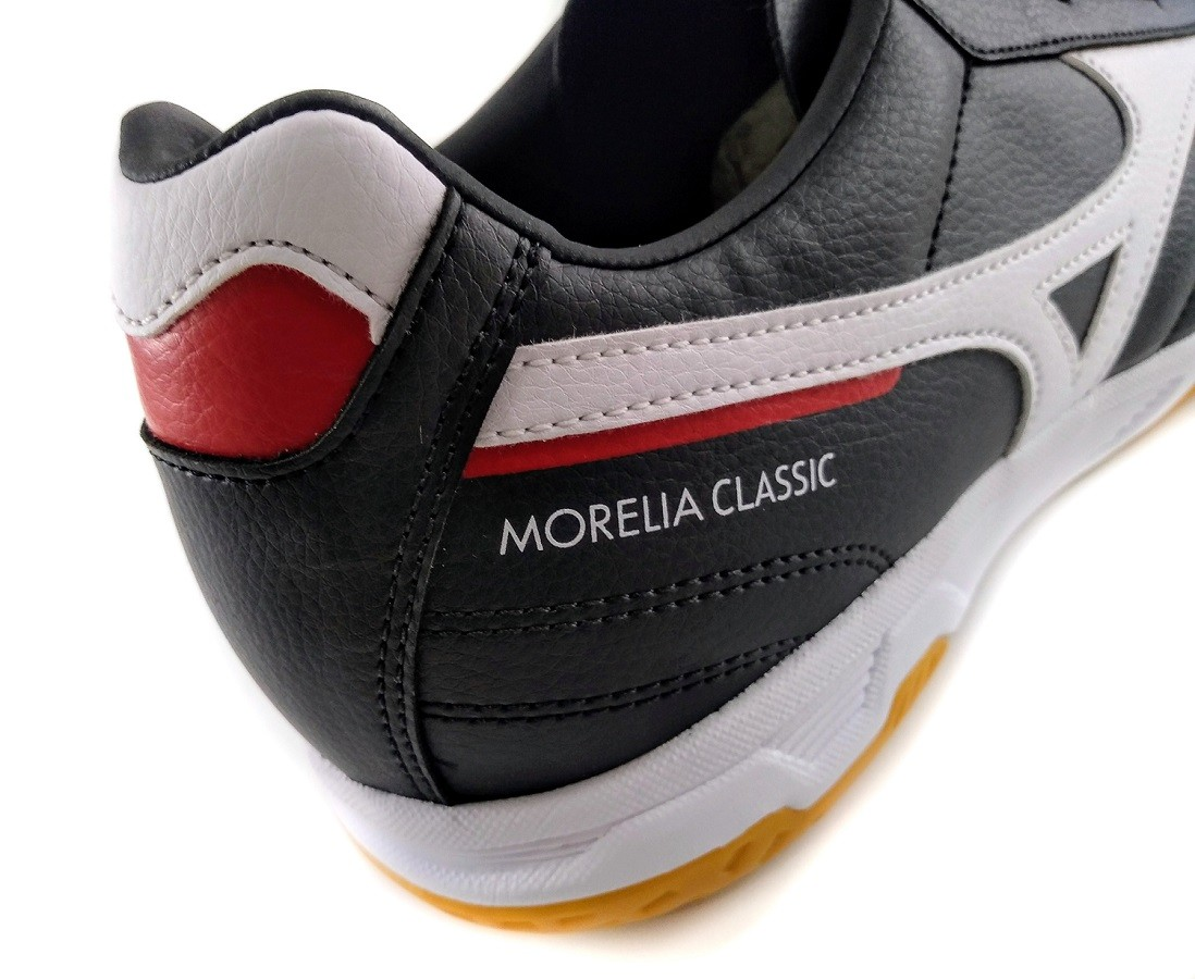 Chuteira Futsal Mizuno Morelia Classic IN Preto e Branco