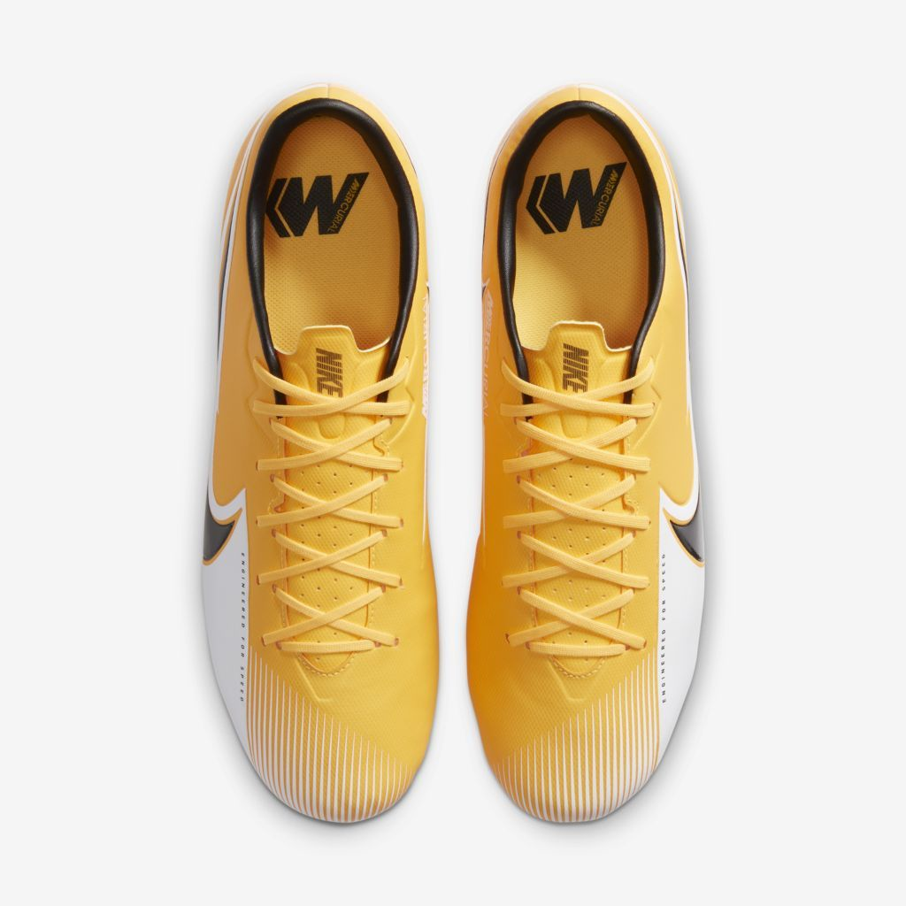 Chuteira Nike Mercurial Vapor 13 Academy Amarelo, Preto e Branco