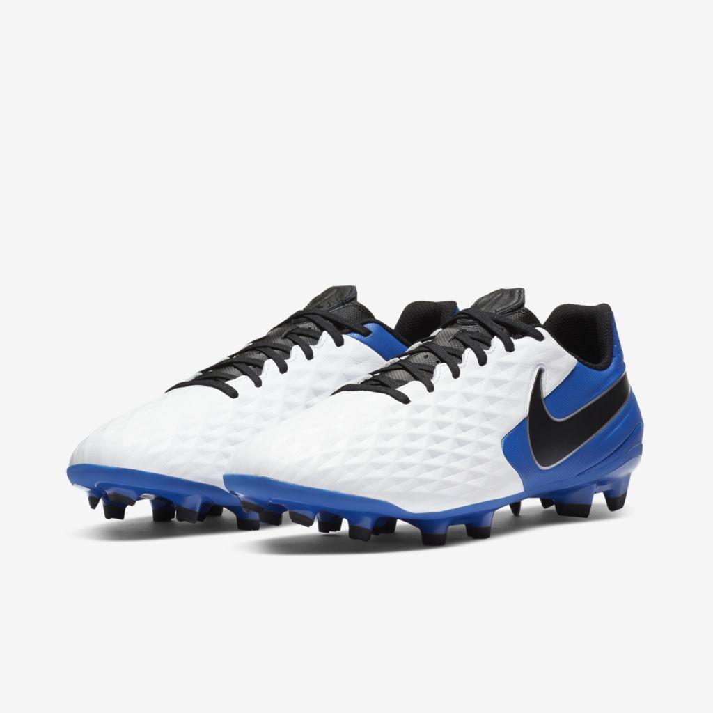 Chuteira Nike Tiempo Legend 8 Academy Azul, Branco e Preto