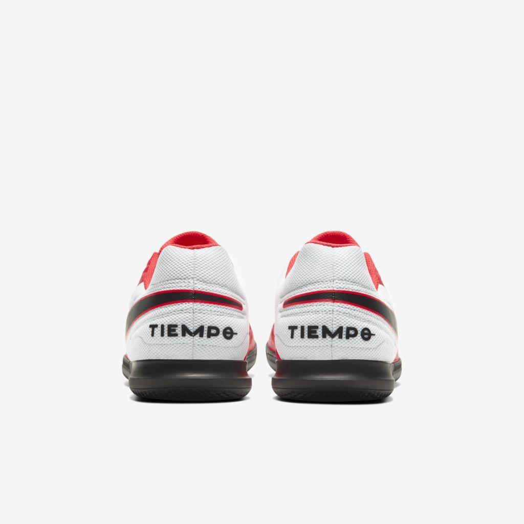 Chuteira Futsal Nike Tiempo Legend 8 Club Coral e Branco