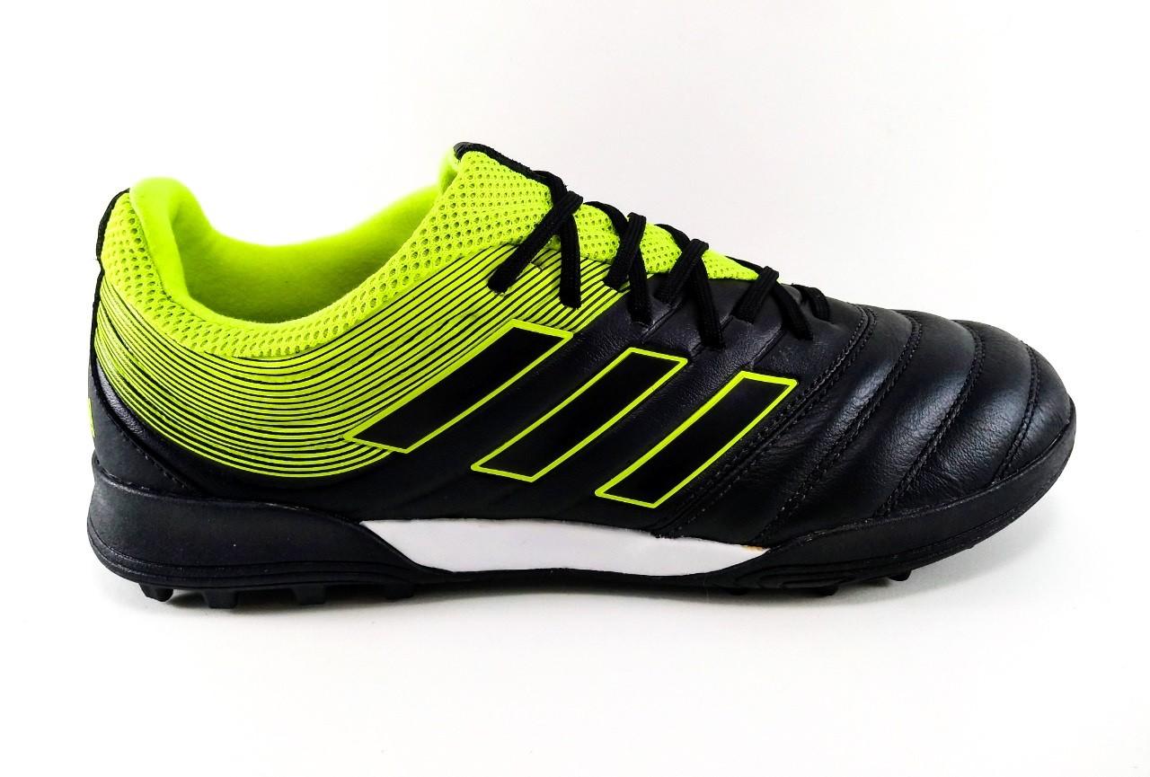 Chuteira Society Adidas Copa 19.3 TF Preto e Verde