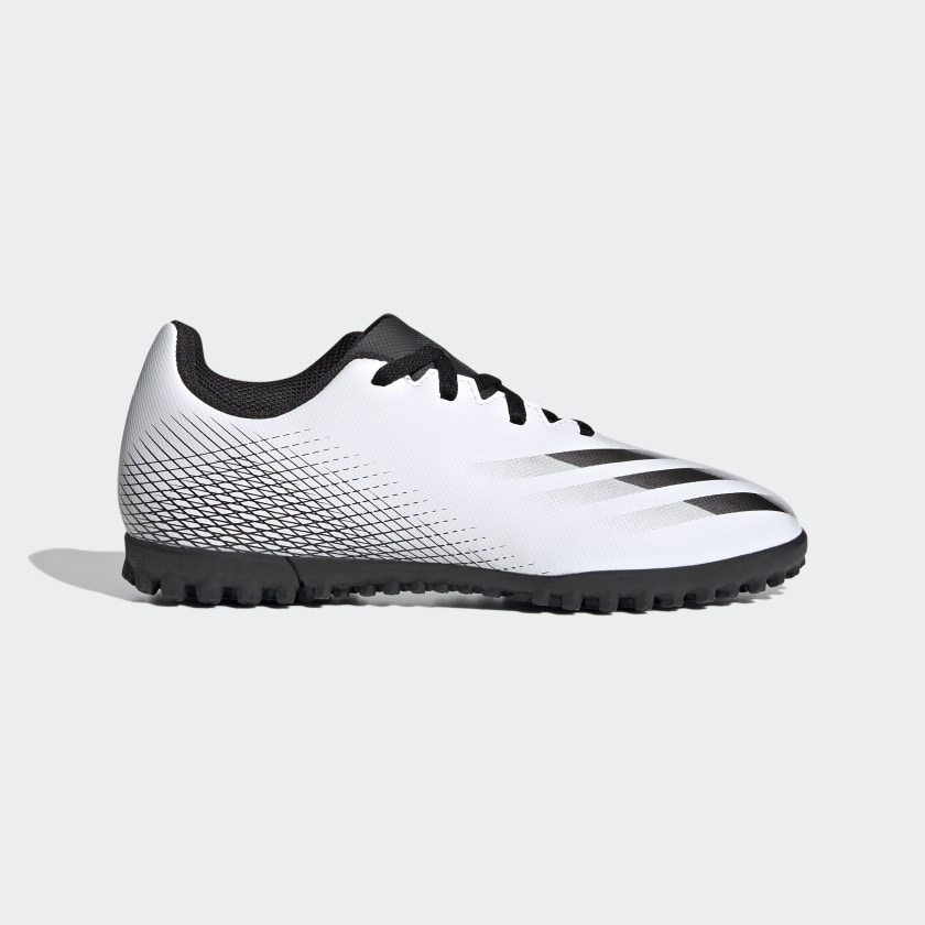 Chuteira Society Adidas X Ghosted.4 Infantil Branco e Preto