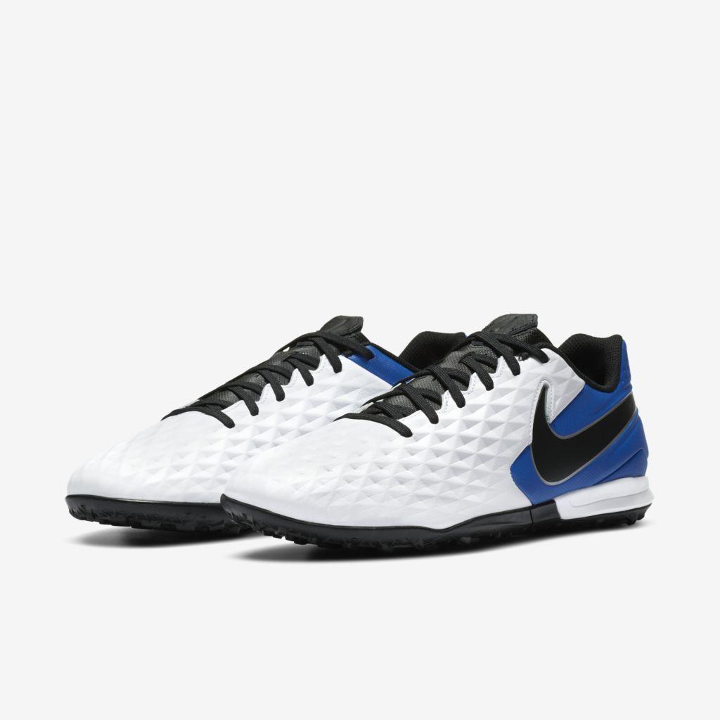Chuteira Society Nike Tiempo Legend 8 Academy Azul, Branco e Preto