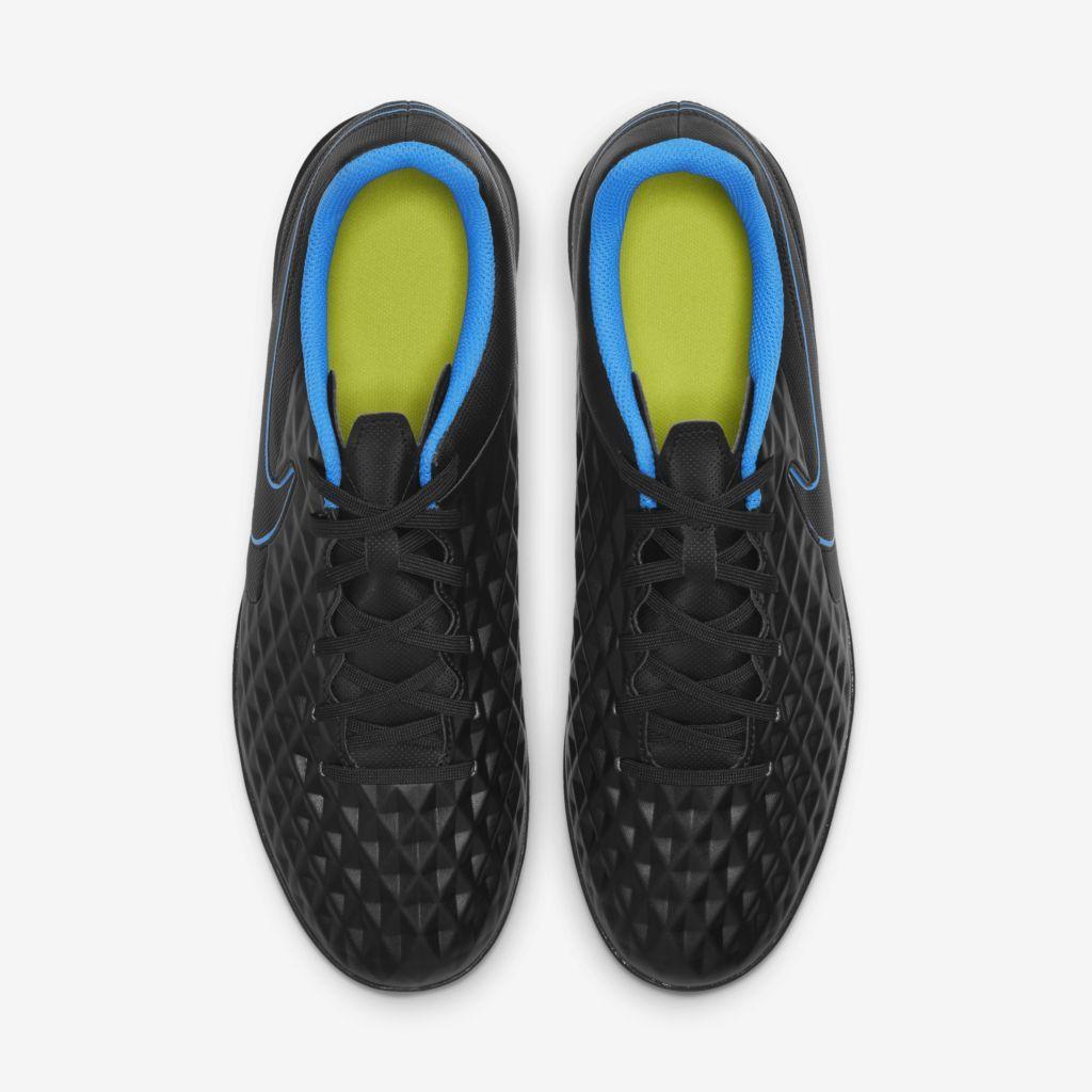 Chuteira Society Nike Tiempo Legend 8 Club Preto e Azul
