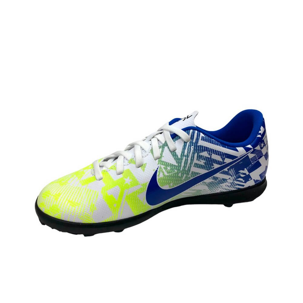Chuteira Society Nike Vapor 13 Club Neymar Jr. Branco Estampada
