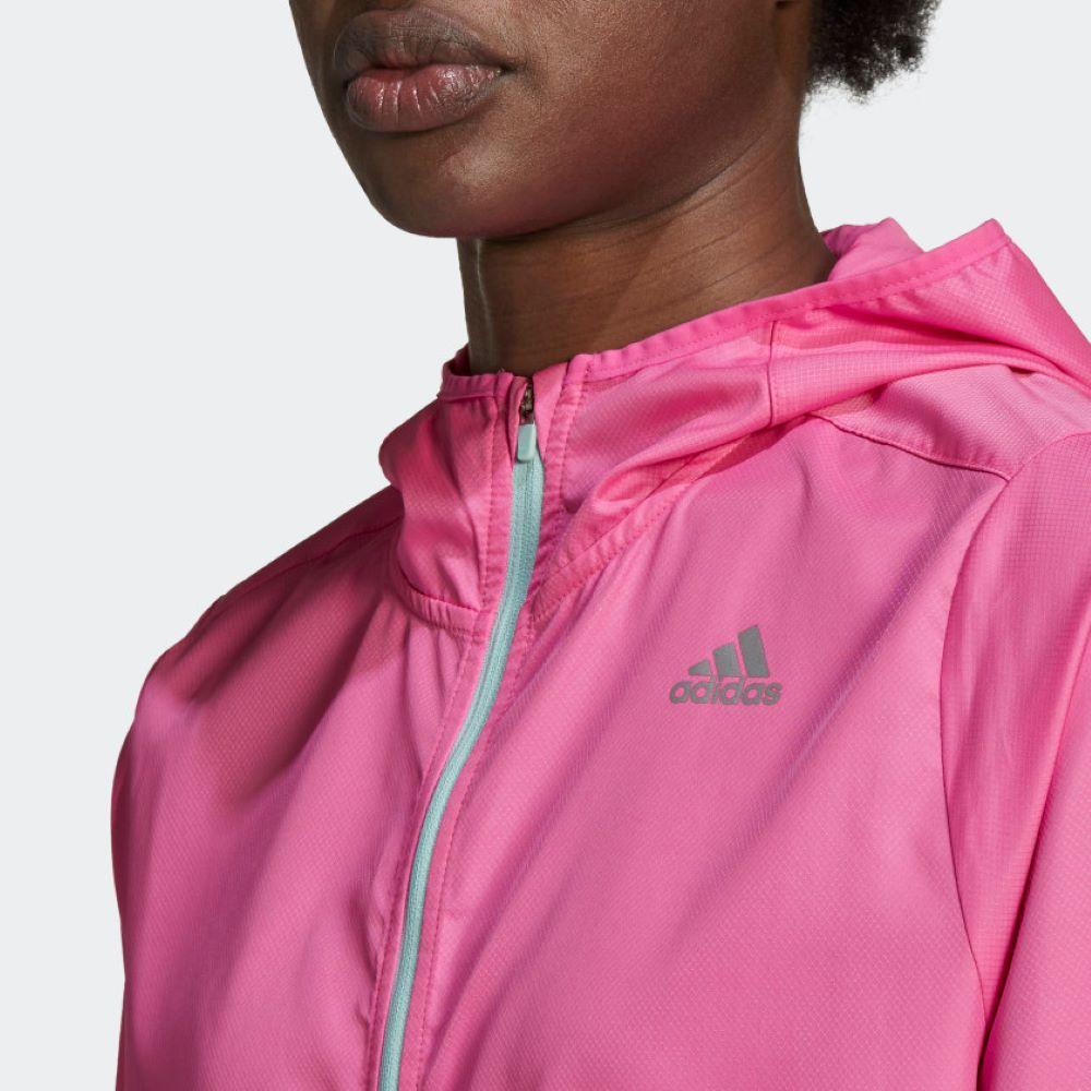 Corta Vento Adidas Own The Run Feminino Rosa