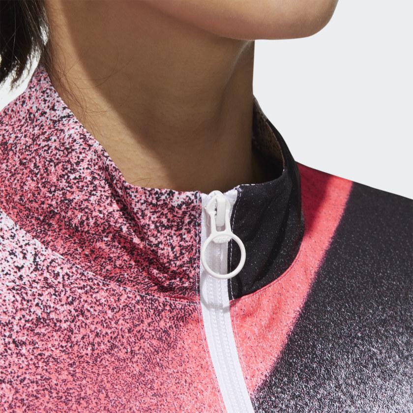 Corta Vento Adidas Unleash Confidence Feminino Branco e Rosa