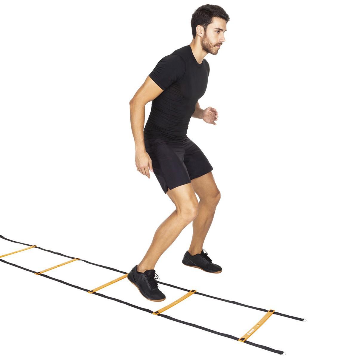Escada de Agilidade Treino Funcional com Degrau Ajustável 4 Metros Vollo