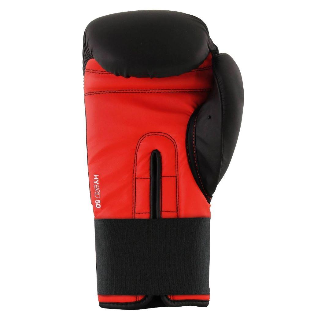 Luva Adidas Box Speed 50 Preto e Vermelho