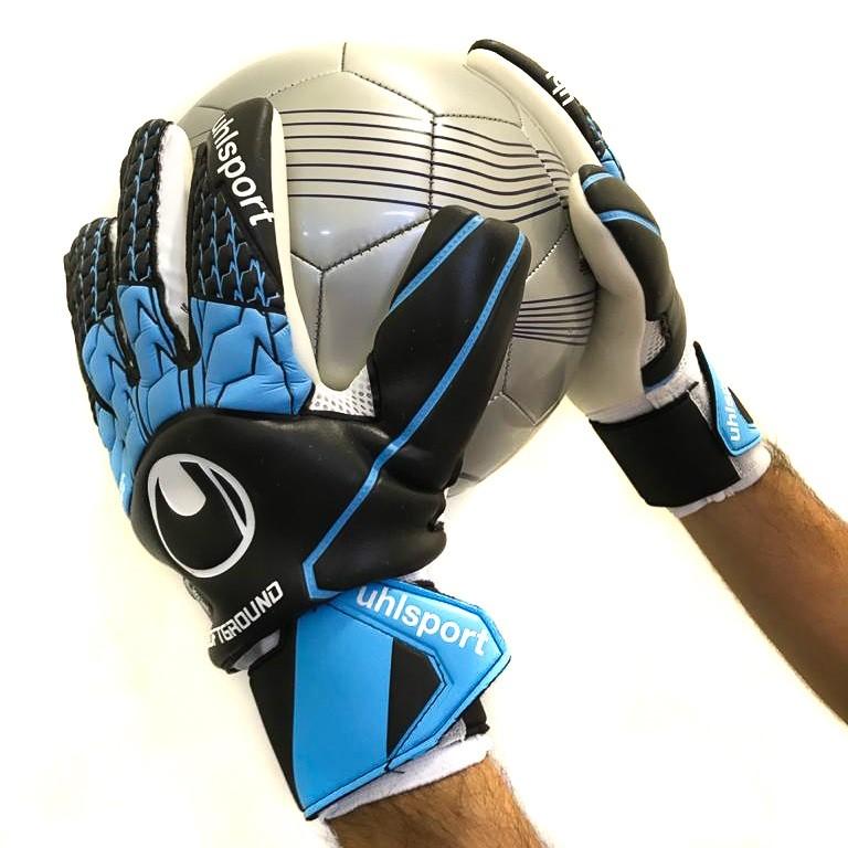 Luva de Goleiro Campo Uhlsport Soft HN Preto e Azul