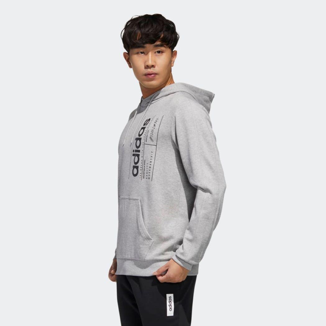 Moletom Adidas Brilliant Basic Masculino Cinza
