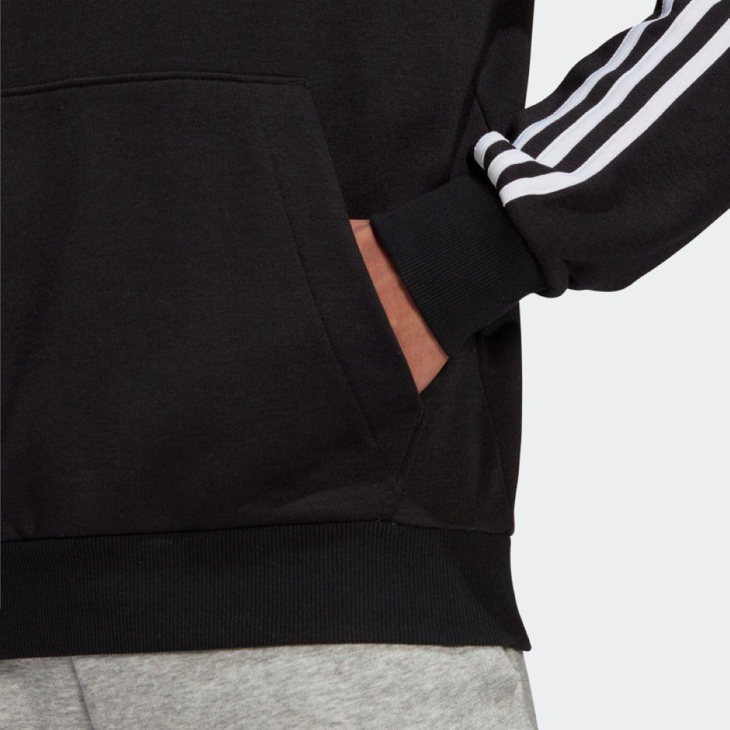 Moletom Adidas Capuz 3 Listras Masculina Preto e Branco