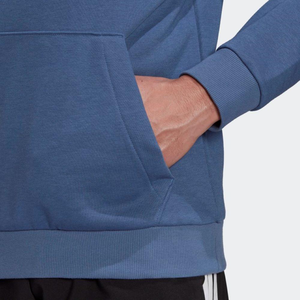 Moletom Adidas Capuz Essentials Big Logo Masculino Azul