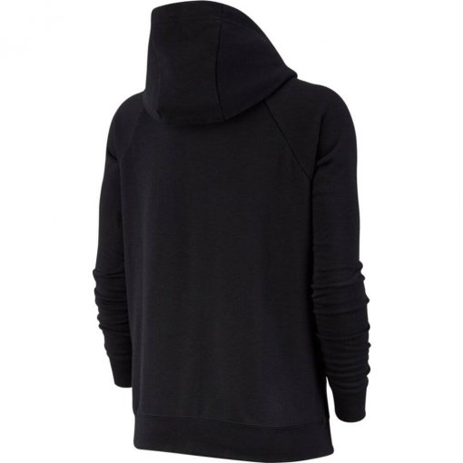 Moletom Nike Full-Zip Fleece Hoodie Feminino Preto
