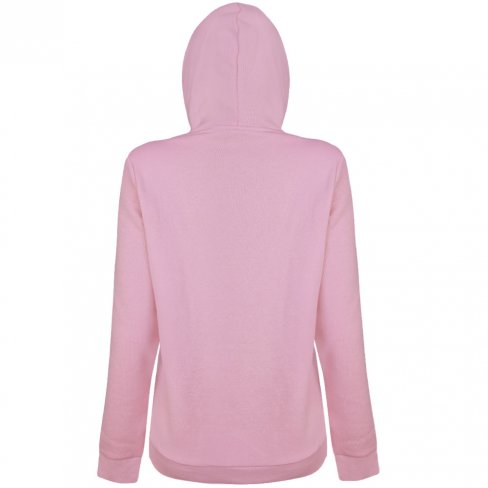 Moletom Puma Essentials Big Logo Feminino Rosa e Branco