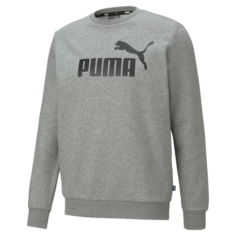 Moletom Puma Essentials Big Logo Masculino Mescla e Preto