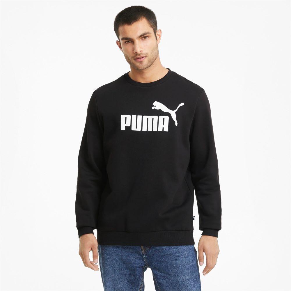 Moletom Puma Essentials Big Logo Masculino Preto e Branco
