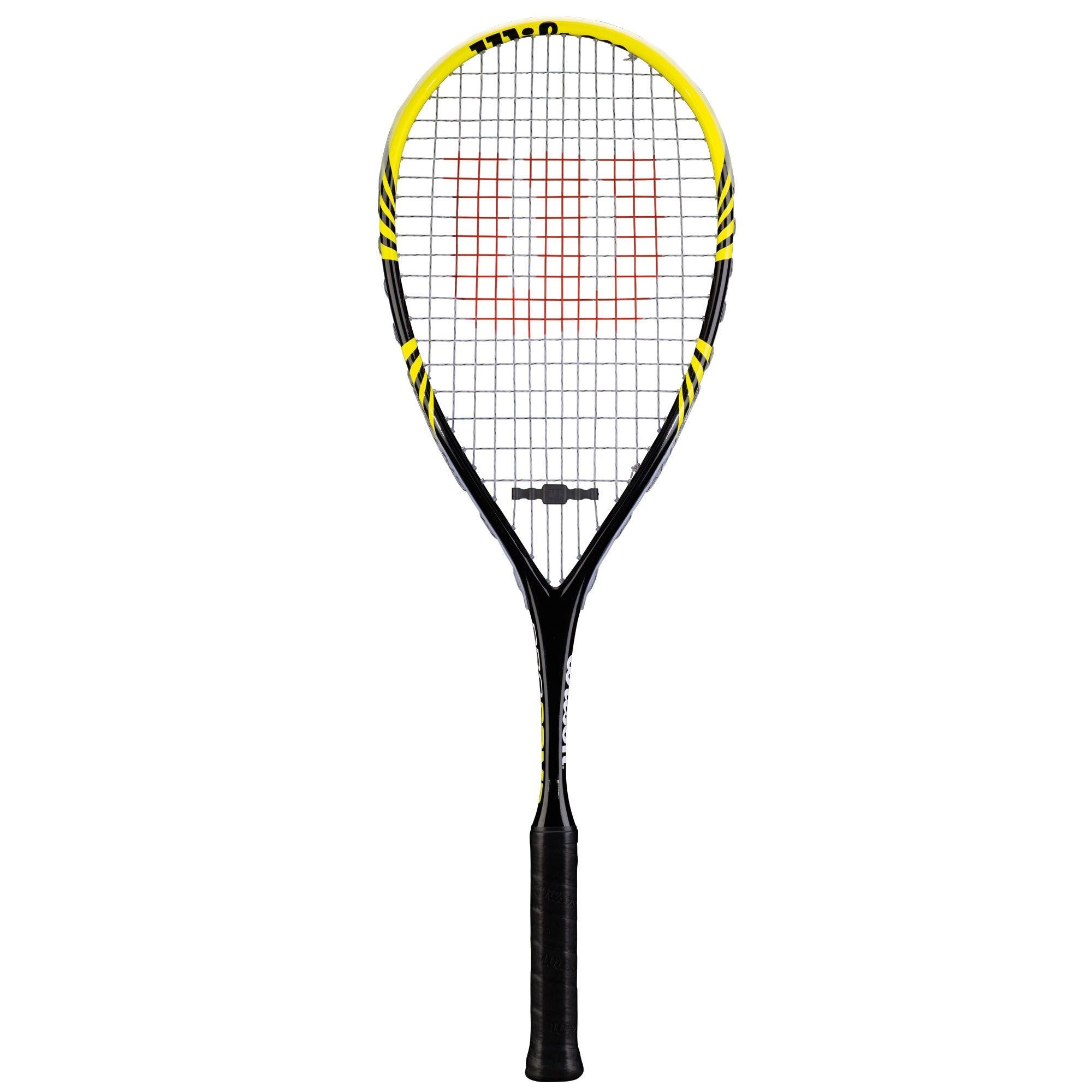 Raquete Squash Wilson Pro Preto e Amarelo